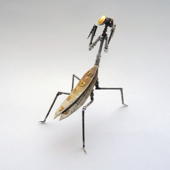 Jeweler Creates Mechanical Creepy Crawlers from Watch Parts and Light Bulbs | Oddity Central - Collecting Oddities